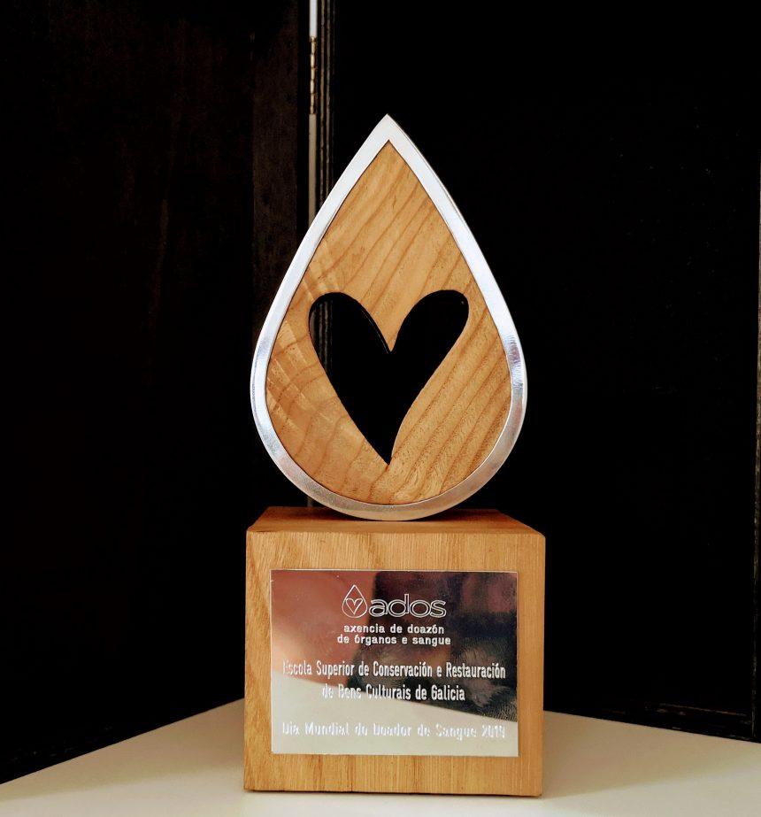 A ESCRBBCCG, recoñecida pola súa cooperación coa Axencia de Doazón de Órganos e Sangue